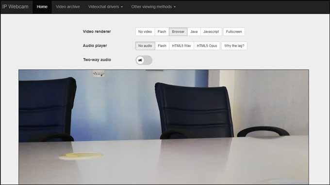 IP webcam rendering started