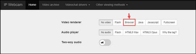IP webcam video renderer