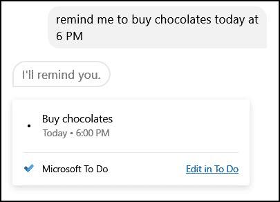 cortana reminders