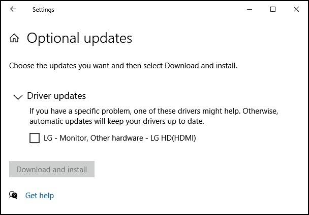 Optional Driver Updates