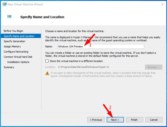 Create Windows 10X Virtual Machine 3