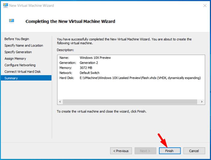 Create Windows 10X Virtual Machine 9
