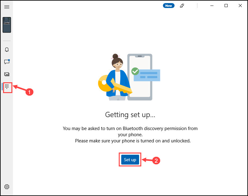 Set up Phone calling from Windows 10