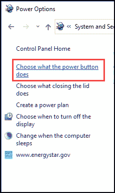 Choose what power button do