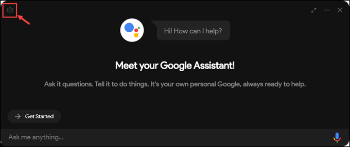 Google Assistant for PC app