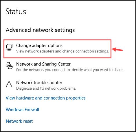 change adapter option