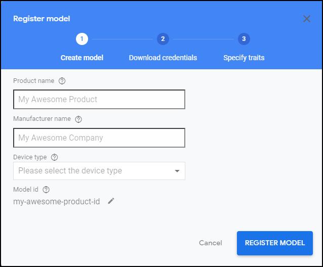 register model Google Assistant for PC
