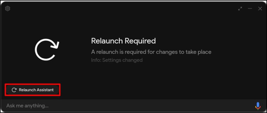 relaunch assistant