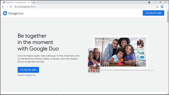 google duo on chrome