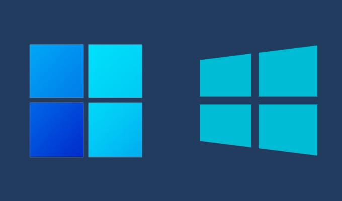Windows 10 vs. Windows 11 Logo