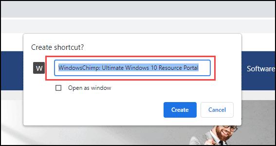 choose shortcut name