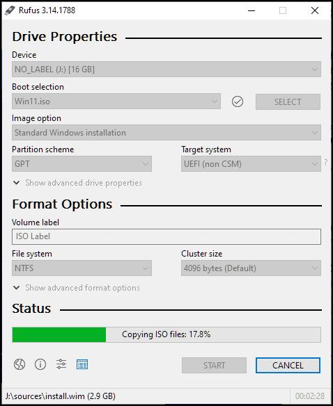 create bootable usb using ISO