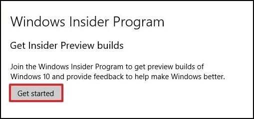windows insider get started