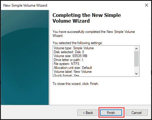 complete new volume setup
