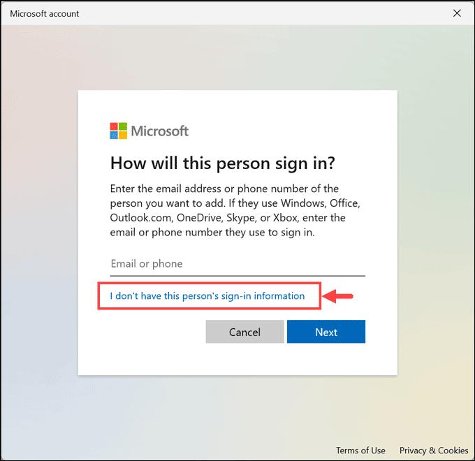 local account Windows 11