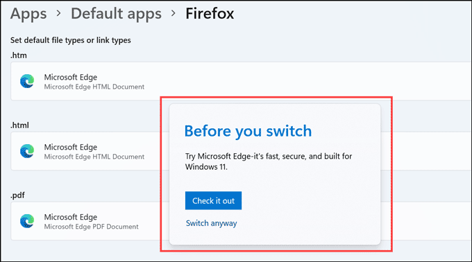 before you switch